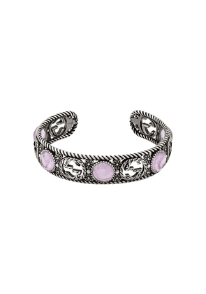 Gucci Interlocking G flower cuff - SILVER