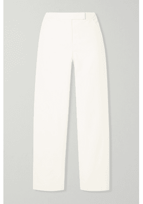 Theory - Cropped Brushed-twill Straight-leg Pants - Ivory