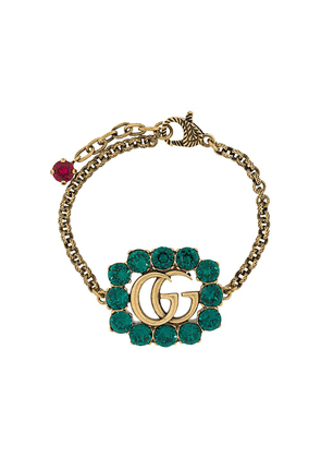 Gucci Double G crystal bracelet - GOLD