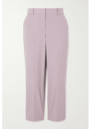 Theory - Cropped Wool-blend Slim-fit Pants - Lilac