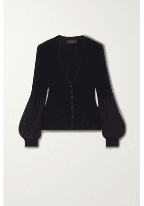 Theory - Ribbed-knit Cardigan - Black