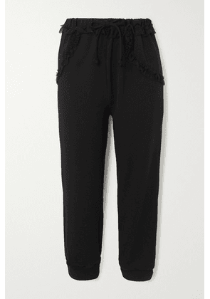 Simone Rocha - Tulle-trimmed Jersey Track Pants - Black