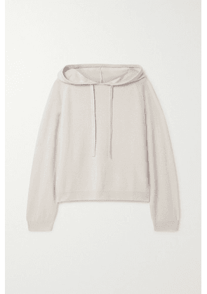 Allude - Oversized Wool And Cashmere-blend Hoodie - Light gray