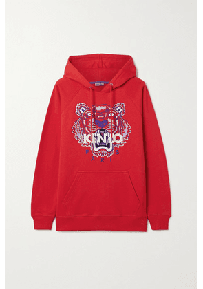 KENZO - Embroidered Cotton-jersey Hoodie - xx small