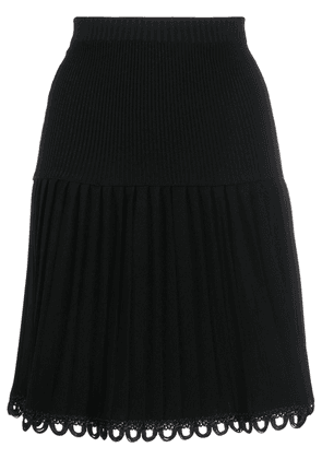 Moschino pleated above-the-knee skirt - Black