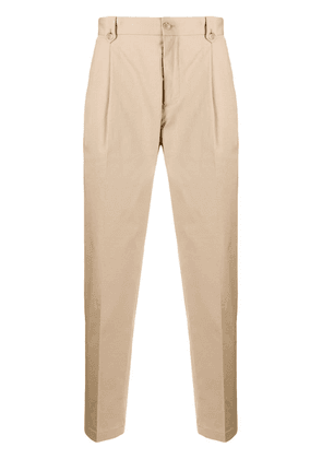 Dolce & Gabbana pleated cropped trousers - NEUTRALS