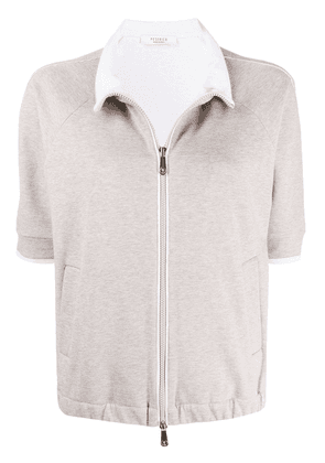 Peserico short-sleeved cardigan - NEUTRALS