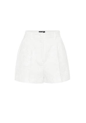 Cotton-blend jacquard shorts