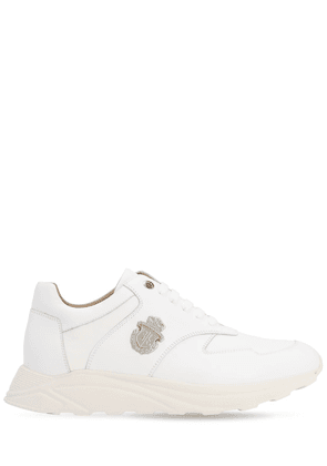 Runner Crest Leather Sneakers