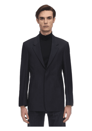 Wool & Mohair Poplin Jacket