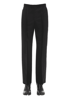 Two Ply Wool Poplin Track Suit Pants