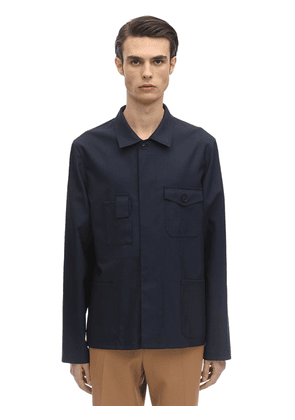 Wool Blend Poplin Work Jacket