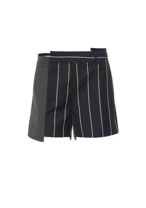 Pinstriped wool shorts