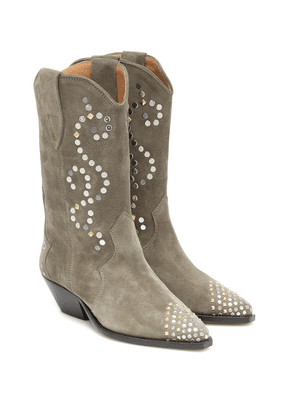 Duerto embellished suede boots