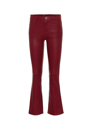 Dean mid-rise flared leather pants