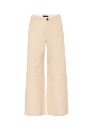 Lilou cropped leather pants