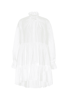 Ruffled cotton minidress