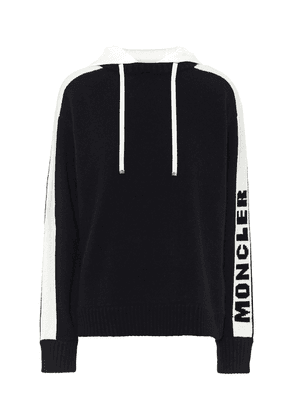 Logo wool and cashmere hoodie