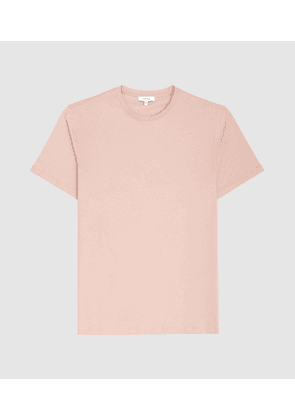 Reiss Bless - Crew Neck T-shirt in Blush, Mens, Size XS