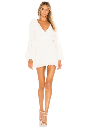House of Harlow 1960 x REVOLVE Sylvan Dress in Ivory. Size L,S.
