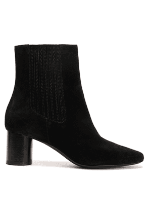 Sandro Suede Ankle Boots Woman Black Size 38