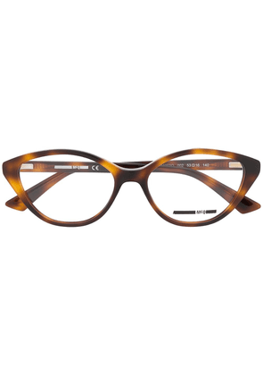 McQ Alexander McQueen tortoiseshell cat-eye glasses - Brown