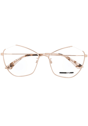 McQ Alexander McQueen angular cat-eye frame glasses - PINK
