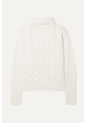 Helmut Lang - Cable-knit Wool Turtleneck Sweater - Off-white