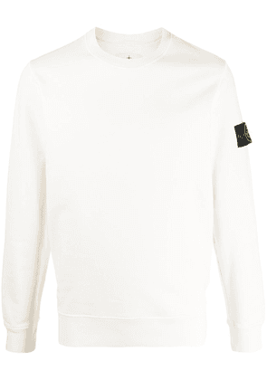 Stone Island logo patch sweatshirt - White