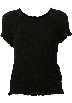 Issey Miyake Cauliflower distressed style shortsleeved knitted top -