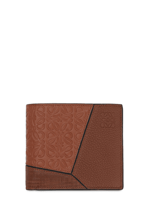 Puzzle Leather Billfold Wallet