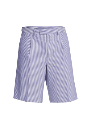 Stripped oxford shorts