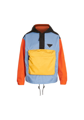 Multicolor front pocket anorak
