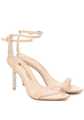 Haley crystal-embellished leather sandals