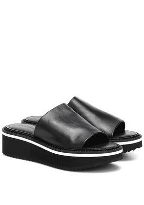 Fast3 leather platform slides