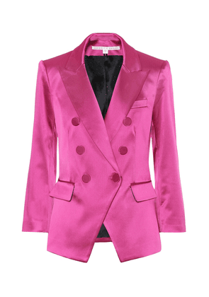 Empire satin blazer