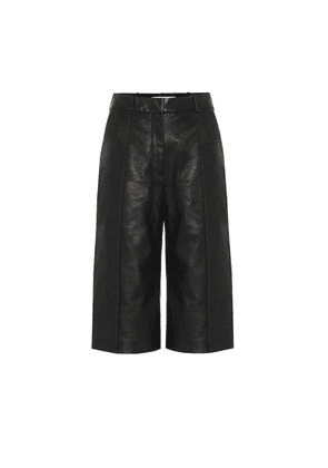Arnold high-rise leather culottes