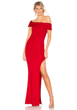 Lovers + Friends Marigold Gown in Red. Size S.