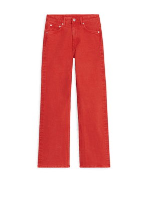 FLARED Cropped Jeans - Orange
