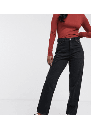 Monki Taiki high waist mom jeans with organic cotton in black
