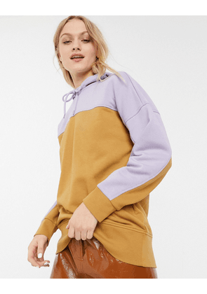 Monki organic cotton oversized hoodie in beige