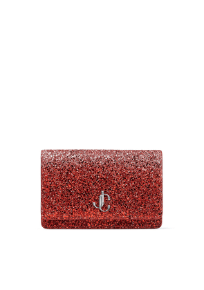 PALACE Bubblegum-Pink and Red Dynamic Course Glitter Fabric Mini Bag with JC Emblem