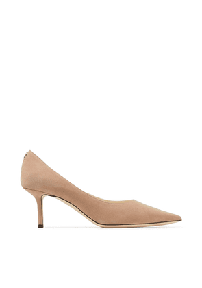 LOVE 65 Ballet Pink Suede Pointy Toe Pumps with JC Button