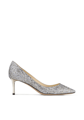 ROMY 60 Champagne Course Glitter Fabric Pointed Pumps