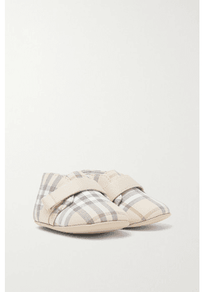 Burberry Kids - Sizes 15 - 19 Checked Cotton-poplin Booties