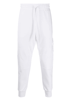 Diesel Panelled Sweatpants with fluo print - White