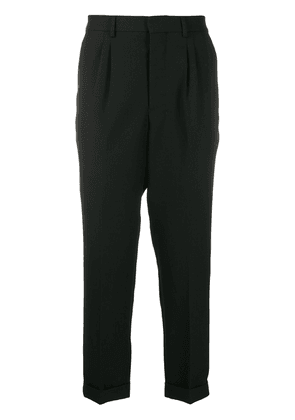 Ami Paris carrot fit tapered trousers - Black