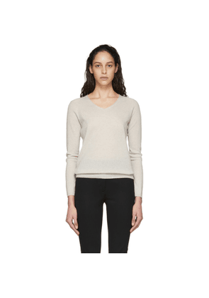 Max Mara Leisure Beige Vino V-Neck Sweater