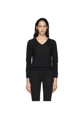 Max Mara Leisure Navy Vino V-Neck Sweater