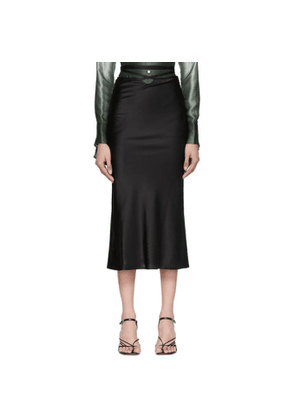 Christopher Esber Black Wrapped Tie Skirt